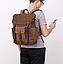 Рюкзак дорожный текстильный Vintage 20057 Коричневый, фото 7