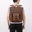 Рюкзак дорожный текстильный Vintage 20057 Коричневый, фото 8