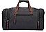 Дорожная сумка текстильная Vintage 20080 Черная, фото 4