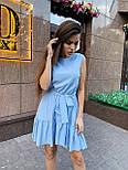 Летнее платье трапеция с оборкой и без рукава 17031379, фото 3