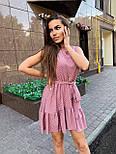 Летнее платье трапеция с оборкой и без рукава 17031379, фото 7
