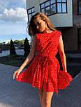Летнее платье трапеция с оборкой и без рукава 17031379, фото 8