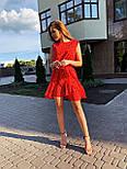 Летнее платье трапеция с оборкой и без рукава 17031379, фото 9