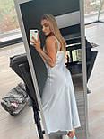 Довга шовкова сукня комбінація на бретелях 18031382, фото 5