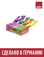 Перчатки нитриловые Ampri Style Tutti Frutti разноцветные