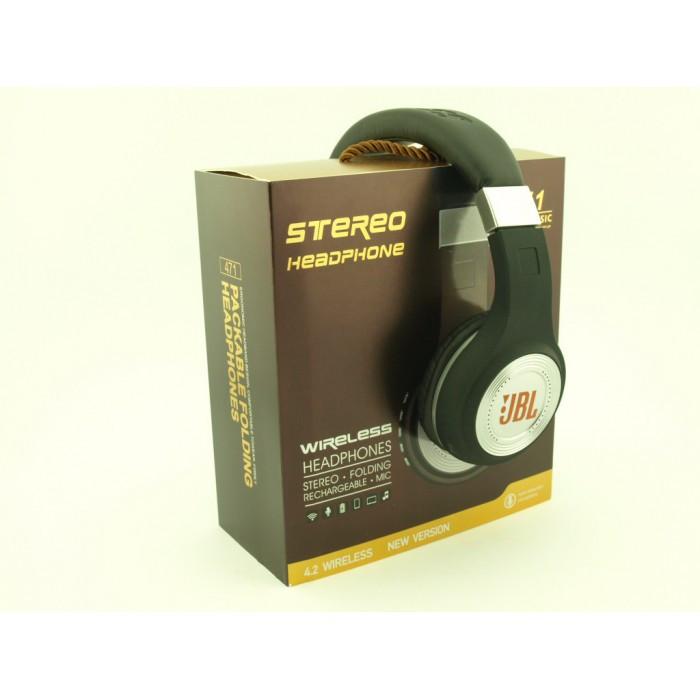 Беспроводные Наушники с MP3 плеером 471 BT Радио с LED Дисплеем чёрные