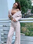 Льняний жіночий брючний костюм двійка з сорочкою 5810899, фото 2