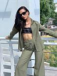 Льняний жіночий брючний костюм двійка з сорочкою 5810899, фото 4