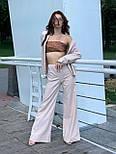 Льняний жіночий брючний костюм двійка з сорочкою 5810899, фото 5