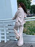 Льняний жіночий брючний костюм двійка з сорочкою 5810899, фото 6