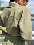 Льняний жіночий брючний костюм двійка з сорочкою 5810899, фото 7
