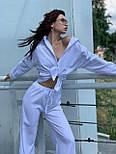 Льняний жіночий брючний костюм двійка з сорочкою 5810899, фото 9