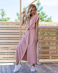 Платье-рубашка на кнопках из штапеля- вискозы размеры 44-46,48-50,52-54