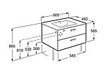 VICTORIA шкафчик с умывальником 60см, белый, фото 2