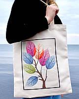"""Эко сумка шоппер """"Листья"""", фото 1"""