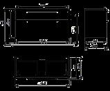 TRAFFIC шкафчик под умывальник 116,8*62,5*46,1см, платиновый глянец (пол.), фото 2