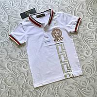Поло Versace, детская белая футболка