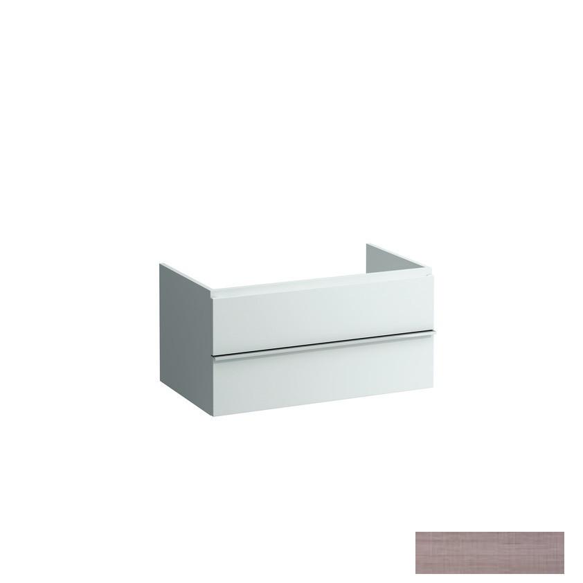 CASE шкафчик 79*52*32/45см, с 2мя выдвижными ящичками, с сифоном, открытый сверху и с тыла, цвет светлый дуб
