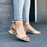 Женские босоножки на низком каблуке из экокожи 244624