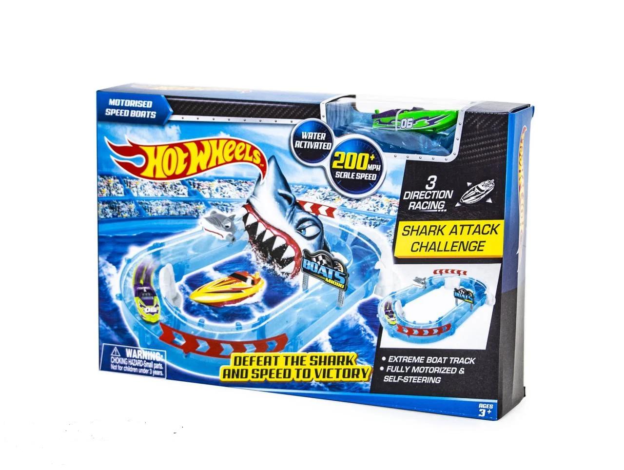 "Водный Трек Хот Вилс ""Побег от Акулы"" Hot Wheels Shark Track"
