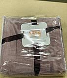 Махровая жаккардовая простынь/ покрывало 200*220 Tм Tac Dama Orkide, фото 2