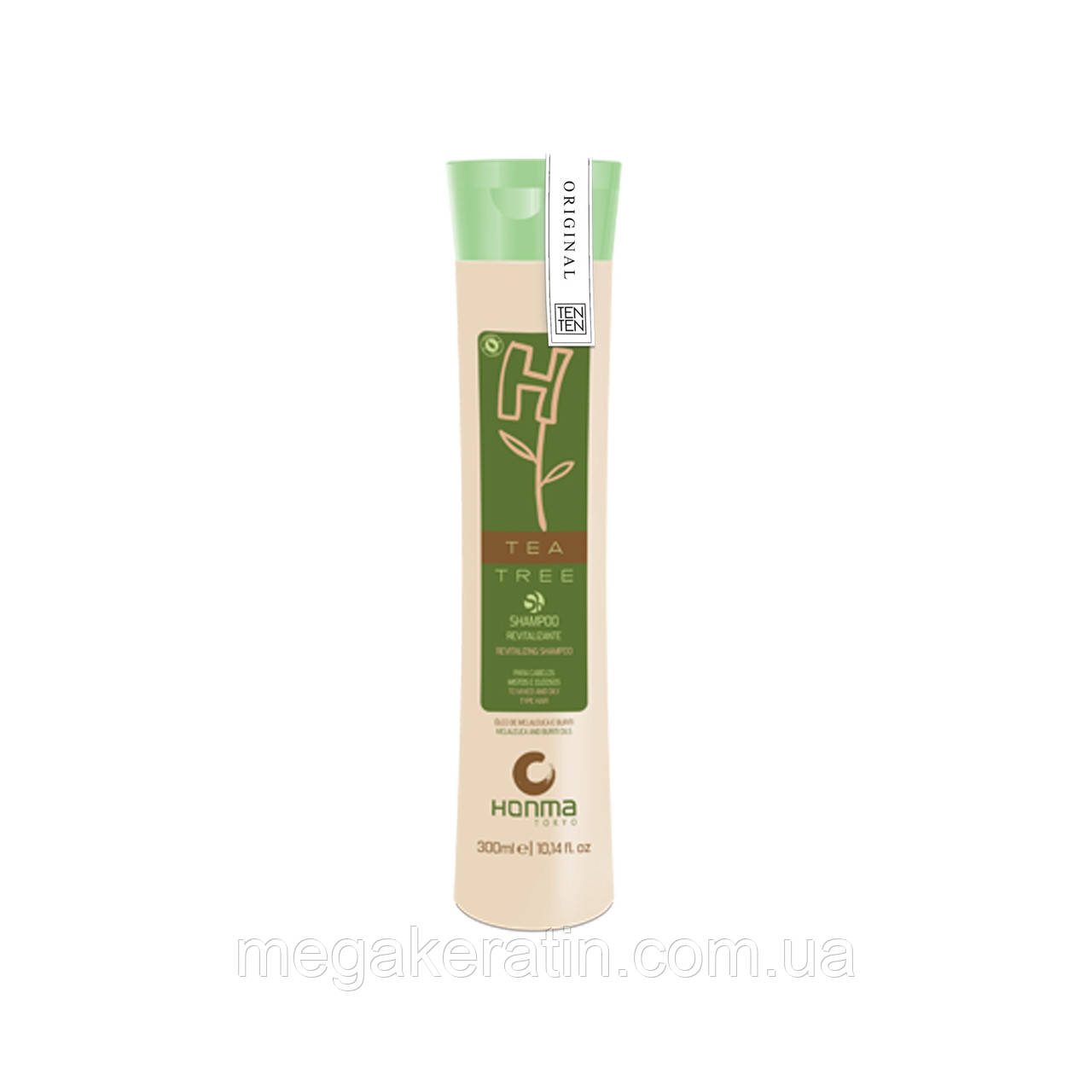 Shampoo H-TEA TREE — Ревитализирующий шампунь Чайное дерево / 300 ml. Honma Tokyo