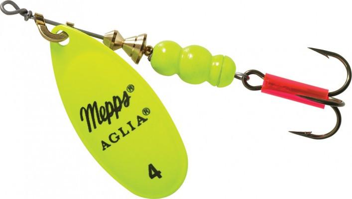 Блесна Mepps Aglia 4 Fluo Chartreuse 9г