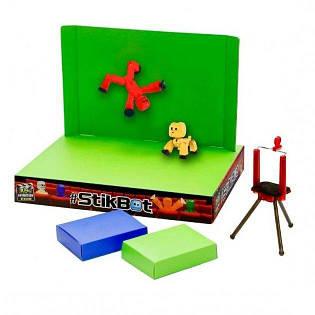 Игровой набор Стикбот студия Анимация (Stikbot studio Animation) 2 фигурки + штатив JM03B