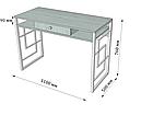 Стіл робочий Квадро (серія Loft) ТМ Метал-Дизайн, фото 4