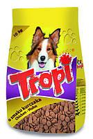 ЗНИЖКА Корм для собак з Куркою Tropi 10кг(потерта транспорта упоковка)