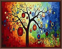 """Раскраска по цифрам """"Дерево богатства"""" (KH230) Идейка 40 х 50 см"""