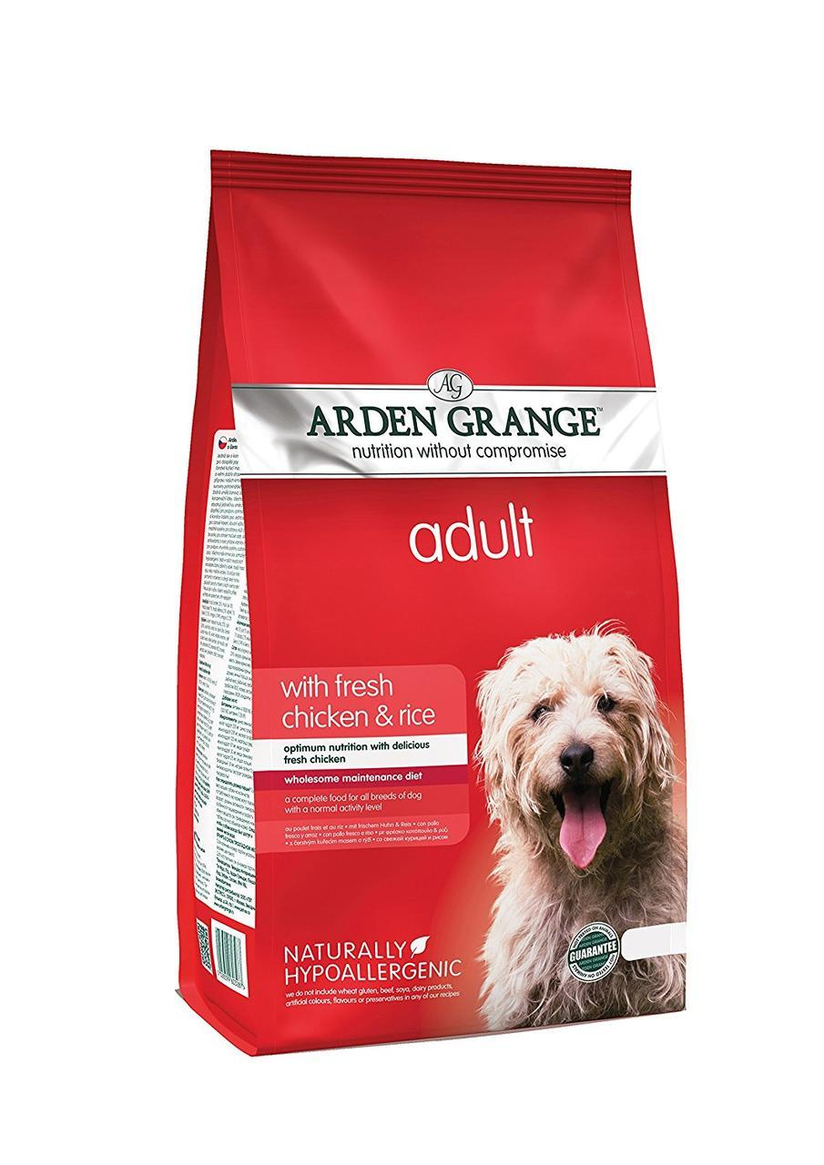 Arden Grange Adult Dog Chicken & Rice ( Арден Гранж Адалт Дог Чикен и Рис) - корм с курицей и рисом 6 кг