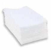 Серветки спанлейс гладкі білі 40см*20см (100шт. в уп. нарізні)