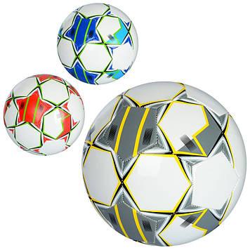М'яч футбольний 260-280г, розмір 5, 1,6 мм, 3 кольори, ПВХ, №EN-3210 (30)