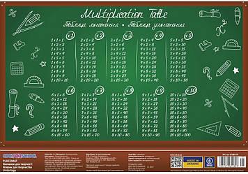 """Килимок для дит. творчість. """"CoolForSchool"""" №CF61480-01 Таблиця множення A3(8)(160)"""