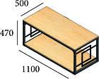Стол журнальный Квадро (серия Loft) ТМ Металл-Дизайн, фото 2