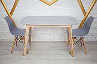 Комплект кухонной мебели Wood Light Винцензо 120 серый прямоугольный стол + 2 стула