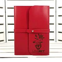Кожаный блокнот S. Софтбук B6. Блокнот в кожаной обложке ручной работы с гравировкой логотипа
