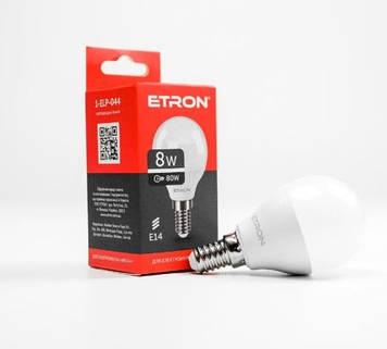 """Лампа """"Etron Light Power"""" LED 1-ELP-044 G45 8Вт. 4200K E14(10)"""