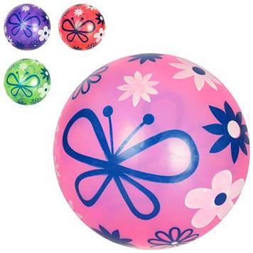 """М'яч гумовий-9"""" №MS0478-2 60г,4 кольор.,малюнок,ПВХ (120)"""