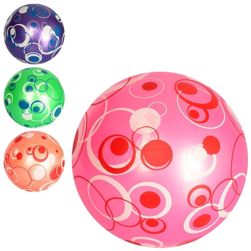 """М`яч дитячий 9"""" малюнок,перламутр,ПВХ,60-65г,4 кольори №MS2647(120)"""