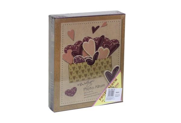Фотоальбом10*15см 200фотов коробке с сердцем