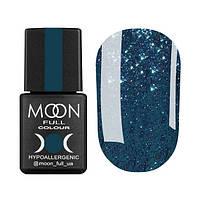 Гель-лак Moon Full Diamond № 01 (бирюзовый глиттер), 8 мл