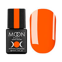 Гель-лак Moon Full Neon № 704 (оранжевый, неон), 8 мл
