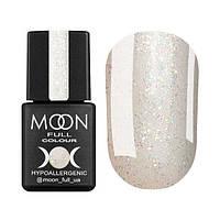 Гель-лак Moon Full Opal № 502 (бесцветный полупрозрачный с мелким разноцветным шиммер), 8 мл