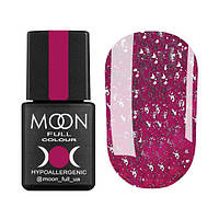 Гель-лак Moon Full Diamond № 02 (розовый с серебристым глиттером), 8 мл