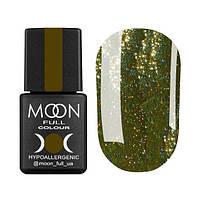Гель-лак Moon Full Diamond № 03 (горчично-золотой глиттер), 8 мл