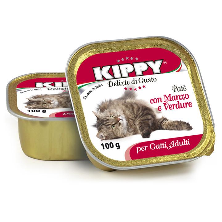 KIPPY Paté con Manzo e Verdure паштет c яловичиною та овочами для кішок, 100г*32шт
