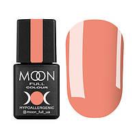 Гель-лак Moon Full № 124 (лососево-оранжевый, эмаль), 8 мл