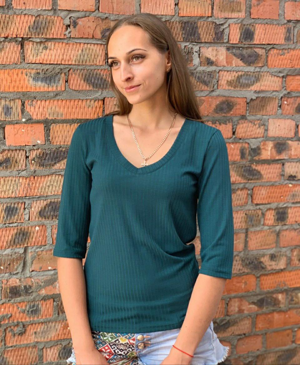 Женская кофта зеленая 42,44,46